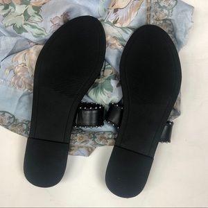 Steve Madden Shoes - Steve Madden Black Studded Lola Slide Sandals